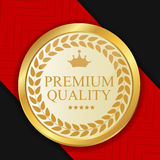 Gold Premium Quality Label Vector Illustration Royalty Free Stock Photography