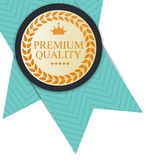 Gold Premium Quality Label Vector Illustration. EPS10 Stock Photo