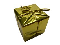 Gold Present Stock Image