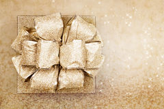 Gold Present Stock Photo
