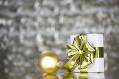 Gold present and ornament Stock Photo