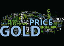 Gold Price Dare To Ride The Bubble Maybe Word Cloud Concept. Gold Price Dare To Ride The Bubble Maybe Text Background Word Cloud Concept Royalty Free Stock Photo