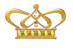 Gold Princess crown. Beautiful illustration of a gold Princess crown Royalty Free Stock Images