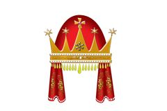 Gold  Princess crown (russian style) Royalty Free Stock Photos