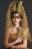 Gold princess fairy Royalty Free Stock Images