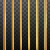 Golden prison bars Royalty Free Stock Images