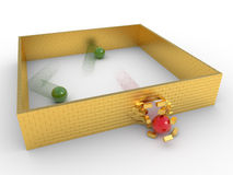 Gold prison breaking concept Royalty Free Stock Image
