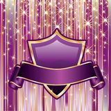 Gold on purple Royalty Free Stock Photography