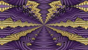 Gold and purple abstract background for the design of textiles, Royalty Free Stock Image