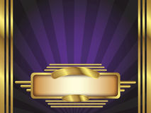 Gold and Purple Art Deco Style Vector Background Stock Photos