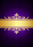Gold and purple background Stock Image