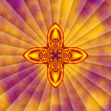 Gold and Purple Cross Stock Photography