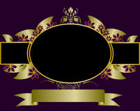 Gold and Purple Floral Background Royalty Free Stock Photos