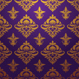 Gold purple pattern vector Royalty Free Stock Image