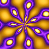 Gold & Purple Peacock Background. A cool looking background- very retro.  It has a pixelated look to it at 100% on purpose Royalty Free Stock Image