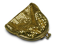 gold purse Στοκ Φωτογραφία