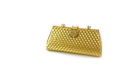 Gold purse Royalty Free Stock Images