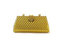 Gold purse Royalty Free Stock Photography