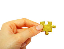 Free Gold Puzzle Royalty Free Stock Images - 10509149