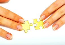 Free Gold Puzzle Royalty Free Stock Images - 11541209
