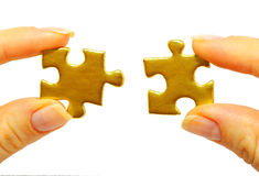 Free Gold Puzzle Royalty Free Stock Image - 11876016