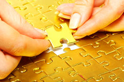 Free Gold  Puzzle Royalty Free Stock Photography - 11876017