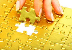 Free Gold Puzzle Royalty Free Stock Photos - 12489148