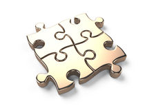 Gold puzzle Stock Image