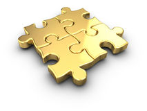 Gold Puzzle Royalty Free Stock Photo