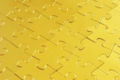 Gold puzzle. S for background. business concept Royalty Free Stock Photo