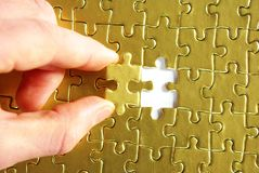 Free Gold Puzzle Royalty Free Stock Photo - 7006965