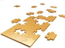 Free Gold Puzzle Royalty Free Stock Image - 8192816