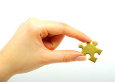 Free Gold Puzzle Stock Photography - 8810042