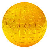 Gold puzzle ball, 3d Royalty Free Stock Photos