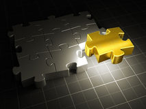 Gold Puzzle Royalty Free Stock Images