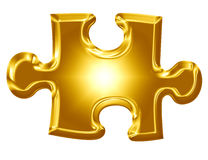 Gold puzzle piece Stock Photo