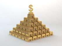 Gold pyramid Royalty Free Stock Photos