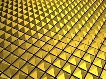 Gold pyramid background. Gold triangle pyramid shape background 3d illustration royalty free illustration
