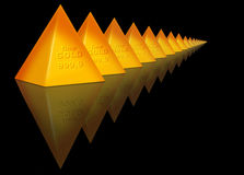 Gold Pyramid Stock Photography