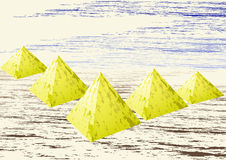 Gold pyramids Stock Photography