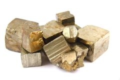 Gold (pyrite Mineral) Isolated Stock Photo