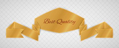 Gold quality label Stock Photography