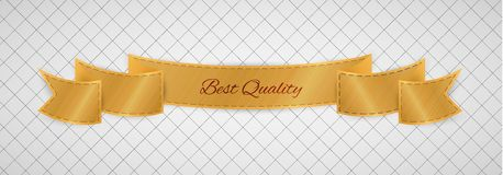 Gold quality label Royalty Free Stock Photography