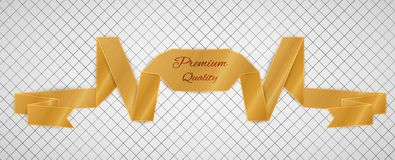 Gold quality label Stock Images