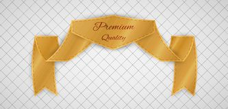 Gold quality label Royalty Free Stock Images