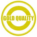 Gold quality. Stamp with text gold quality inside, illustration Stock Images
