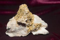 Gold Quartz and Sphalerit Royalty Free Stock Photo