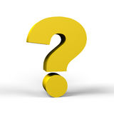 Gold question mark Royalty Free Stock Images