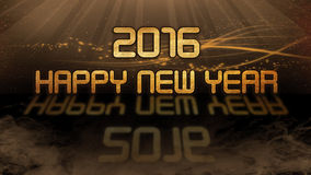 Gold quote - 2016, happy new year. Gold quote with mystic background - 2016, happy new year Stock Image