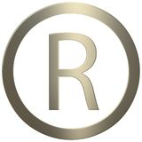 Gold R stock photo